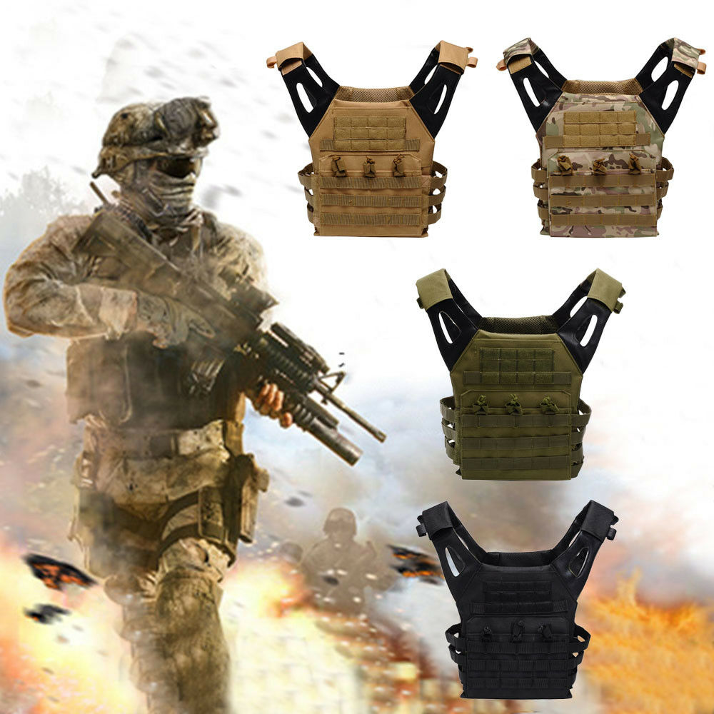 Airsoft Tactical Military Vest Black Molle Swat Army Backpac