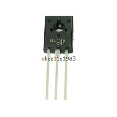 10pcs Bd139 Transistor Npn 1.5a 80v To126 New