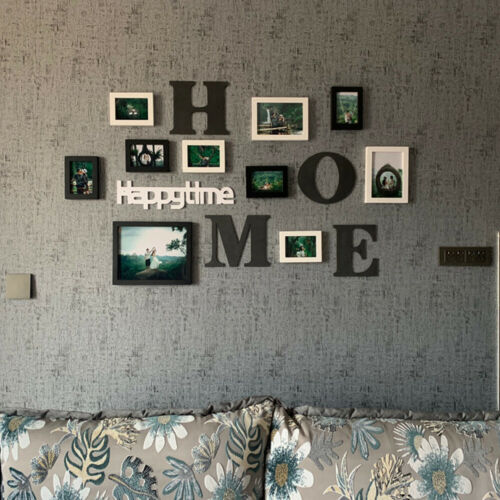 Wall Collage 10 Pcs Display Picture Frames Family Travel Led