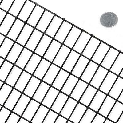 Fencer Wire Garden Fence 2X100 Ft PVC Coated Welded Wire Security 16 Gauge Black