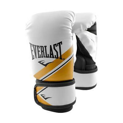 Everlast Small/Medium Advanced Strike Training Boxing Glove in White/Gold Gym