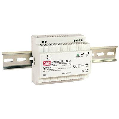 Mean Well Dr-100-24 Ac To Dc Din-rail Power Supply 24 Volt 4.2 Amp 100.8 Watt