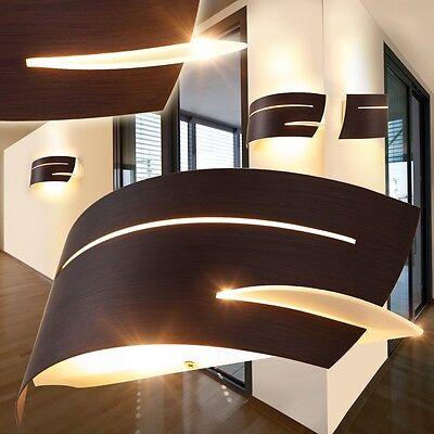 Design Wandleuchte Flur Leuchten Wand Strahler Wohn Zimmer Lampen Glas Wandlampe