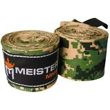"ARMY CAMO 180"" HAND WRAPS - MEISTER MMA Elastic Mexican Boxing Gloves Wrist PAIR"
