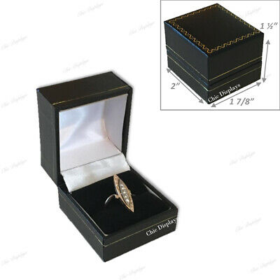 Leatherette Jewelry Boxes Wholesale Jewelry Boxes For Ring Gift Boxes 48-pc