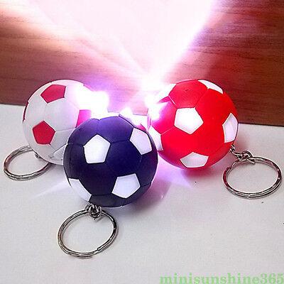 Mini Luminous Football Keychain Soccer Ball Pendant Keyring Unisex Bag Key Decor - Soccer Ball Keychains
