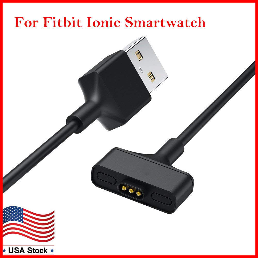 Replacement USB Charger Charging Cable Adapter for Fitbit Ionic Smartwatch 3FT