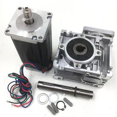 Cnc Worm Gearbox3nm Nema23 Stepper Motor L112mm 4.2a 4wire 2phase Fr 3d Printer