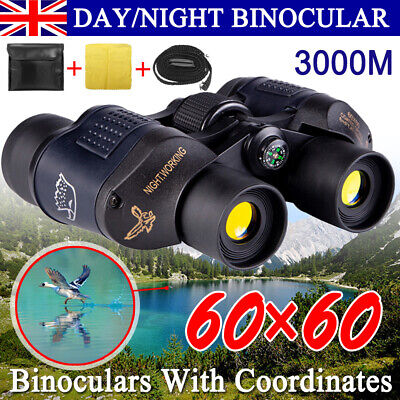 Professional HD 60x60 Military Army Optics Zoom Binoculars Day/Night Telescope