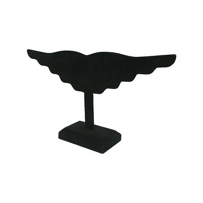 5 Pc Black Velvet Wing Earring Stand Jewelry Display Holder 10 Pairs Earring 12