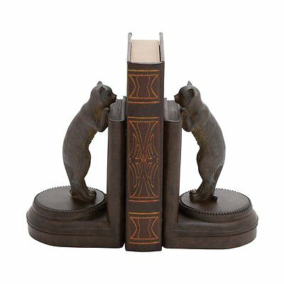 Woodland Imports 44731 Adorable Leaning Cat Bookend (Set of 2)
