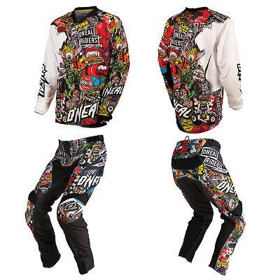 Oneal Mayhem Crank Motocross Off Road Mx Dirt Bike Gear   Jersey Pants Combo