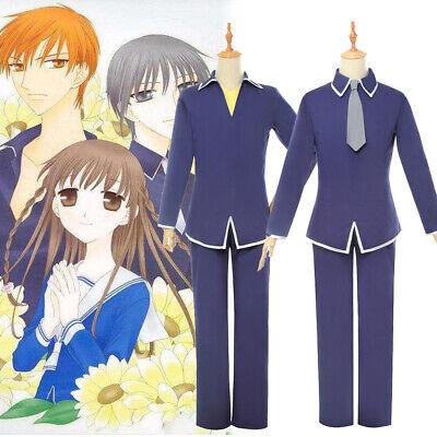 Fruits Basket Souma Yuki Souma Kyo Cosplay Costume School Uniform Suit Full Set - Full Suit Costumes
