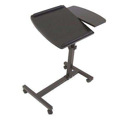 Adjustable Rolling Laptop Table Stand Overbed Desk Tilting TV Food Tray Hospital