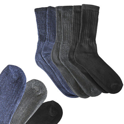 3 Pair: Men's Extreme Weather Wool Winter Blend Socks by RC Collection