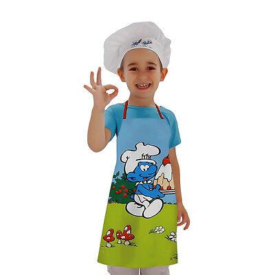 Kinder BackSet * Schlumpf Schürze mit Mütze * Die Schlümpfe * Weihnachtsbäckerei