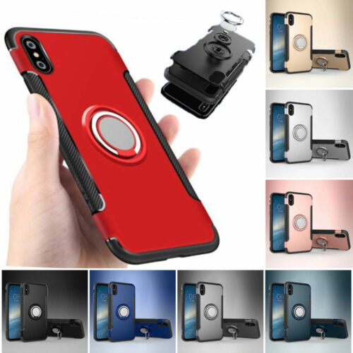 Luxury Case Cover Magnetic Kickstand Ring Holder For iPhone 7 X 8 Plus 6S 5 SE