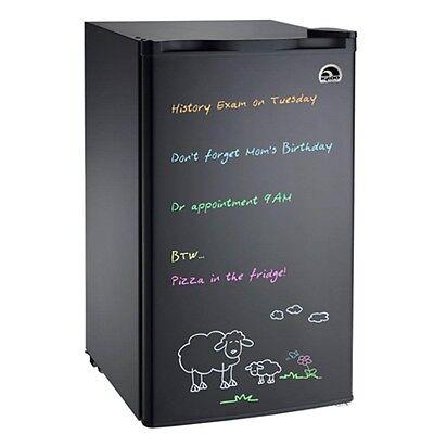 3.2 cu ft Igloo Mini Fridge Eraser Board Refrigerator FR326, Black - Refurbished