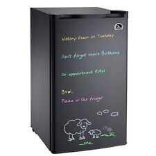 3.2 cu ft Igloo Mini Fridge Eraser Board Refrigerator FR326, Black - Refurbished