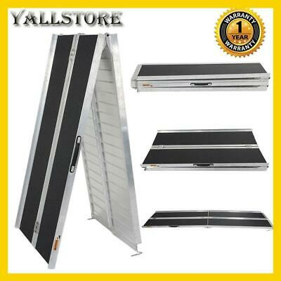 10ft Aluminum Multi-Folding Wheelchair Scooter Mobility Ramp