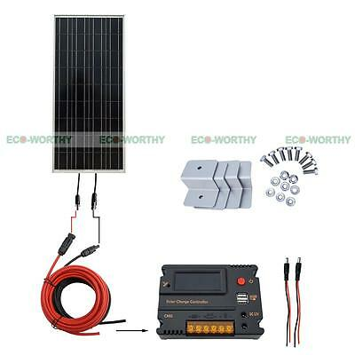 100W Solar Panel Off Grid with Temperature Controlle for Home Battery Charger