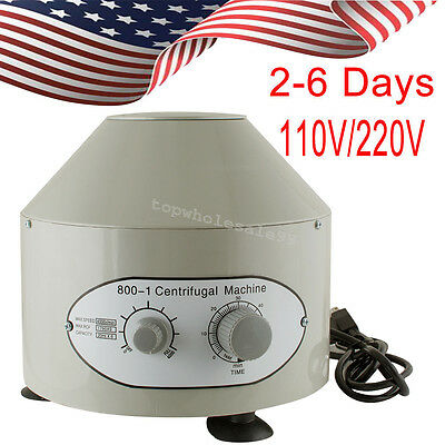 Usa 1pc Electric Centrifuge Machine 4000rpm Lab Medical Practice 110v 25w