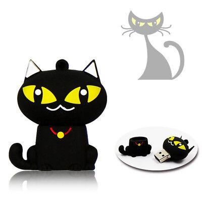 1pc 16GB Halloween Black Cat Yellow Eye Animal USB Flash Thumb Drive USA Shipper](Halloween Flash Animations)
