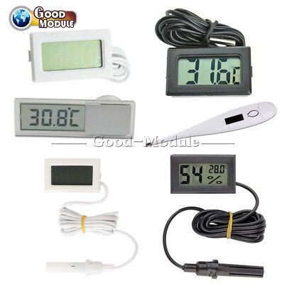 Blackwhite Aquarium Temperature Gauge Lcd Digital Thermometer For Fiish Tank