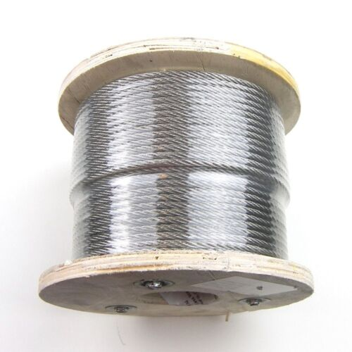 """500ft - Cable Railing T316 Stainless Steel Wire Rope Cable Strand, 3/32"""", 7x7"""