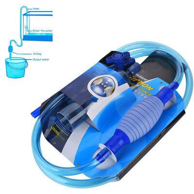 Vacuum Aquarium Fish Tank Instant Siphon Pump Cleaner Water Change Gravel