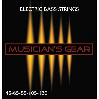 (Musician's Gear Electric 5-String Nickel Plated Steel Bass Strings)