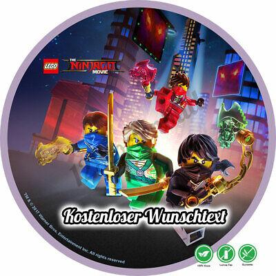 tstag Tortenbild Zuckerbild Oblate Lego Ninjago 015 (Ninjago Torte)