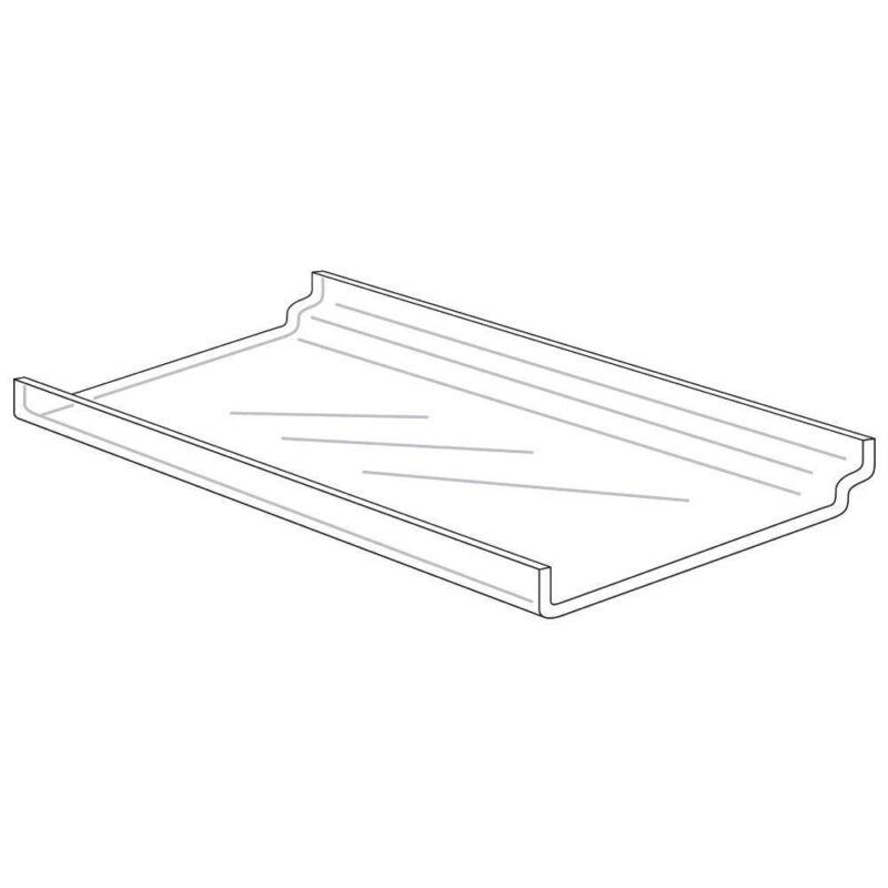 "Slatwall Display Trays - 12"" x 6"" - Acrylic, 53878"