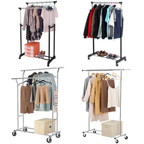 Kleiderständer Wäscheständer Garderobenständer auf Rollen Kleiderstange mobil