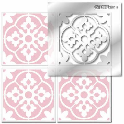 Oakridge Reusable Tile STENCIL. Paint Floors & Walls. Home Decorating DIY 10594