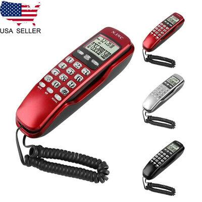 Corded Phone Desk Wall Mounted Telephone Home Landline Caller Black/White/Red Desk Mount Corded Telephone
