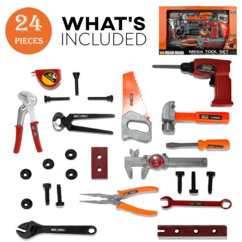 26Pcs Kids Tool Set Realistic Tools Kits Pretend Play Toys F