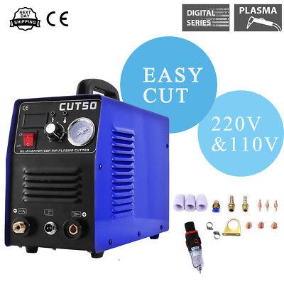 Inverter Digital Air Cutting Machine 50a Plasma Cutter Welder Cut50 110220v