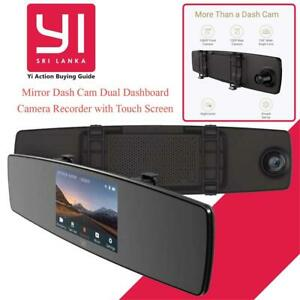 NEW YI Mirror Dash Cam Dual Dashboard Camera Recorder with Touch Screen Front Rear View HD Camera G Sensor Reverse Mo...