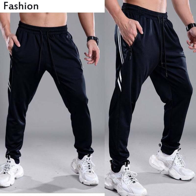 Men Casual Jogging PantsTrousers Cargo Jogger Sweatpants Fas