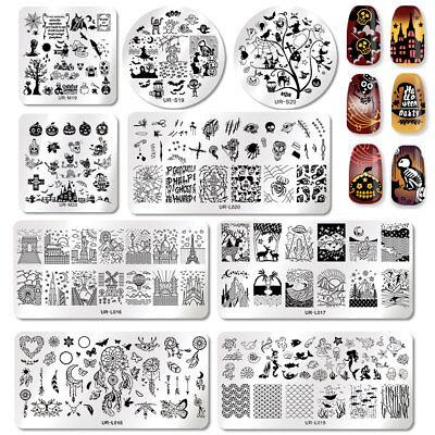 UR SUGAR Halloween Nagel Stempel Schablone Image Stamping Template Maniküre DIY ()