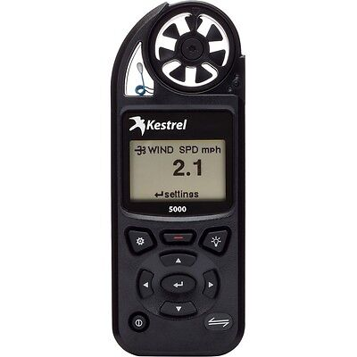 Kestrel 5000 Weather & Environmental Meter - Black - PN# 0850BLK