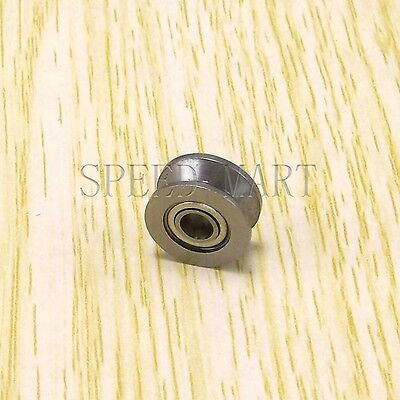 V624zz 624vv V Groove Guide Pulley Rail Ball Bearings Metal 4mm13mm6mm