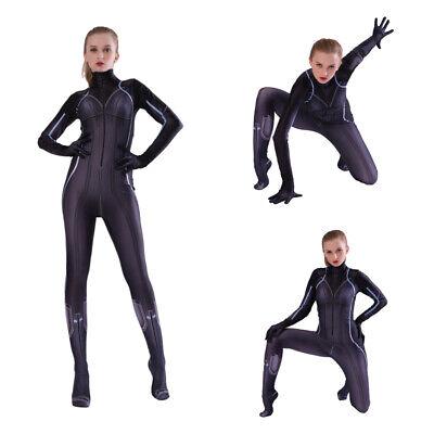 Avengers Endgame Black Widow Costume Natasha Romanoff Cosplay Outfits Jumpsuit - Black Widow Outfits