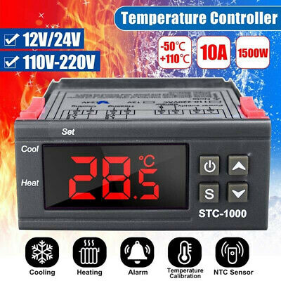 Digital Lcd Two Relay Output Temperature Controller Thermostat Incubator Module