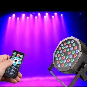 PAR DMX-512 RGB LED Bühnenbeleuchtung RGB LED Flat Par Disco DJ Light 36W