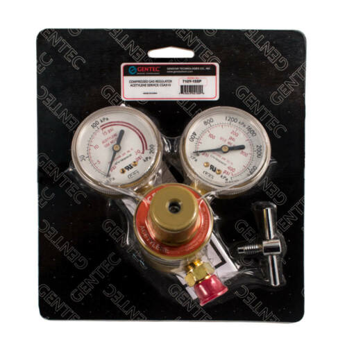 Gentec Small Torch Acetylene Regulator 3/8 -14-537
