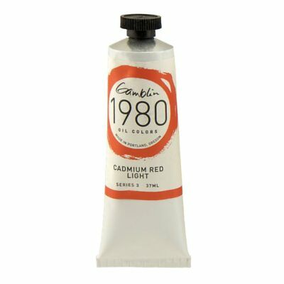 Gamblin Cadmium Red Light (Gamblin - 1980 Oil Colors - 37Ml Tube - Cadmium Red Light 17140 Series 3 NEW)
