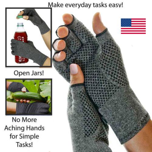 Copper Compression Gloves Carpal Tunnel Arthritis Pain Relie