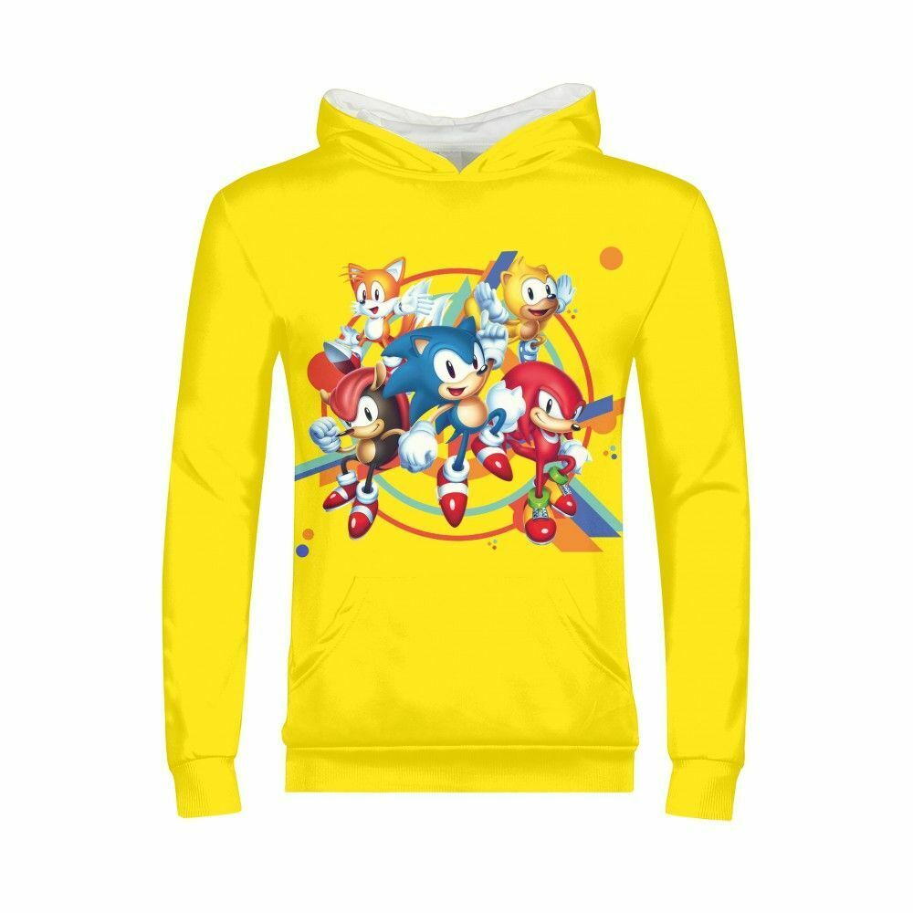 Sonic Sweatshirt The Hedgehog Boys Girls Pullover Hoodie Long Sleeve Shirts Gift